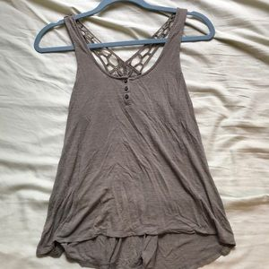 Aeropostale- racer back tank with detailed back